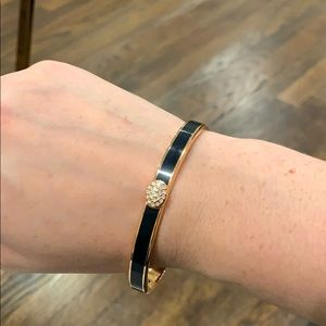 Halcyon Days navy and rose gold thin bangle